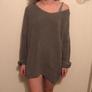 Urban Outfitters woven grey oversized sweater